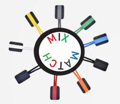 mix and match logo